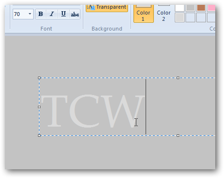 Creating pressed text effect in MS Paint in Windows 7-2
