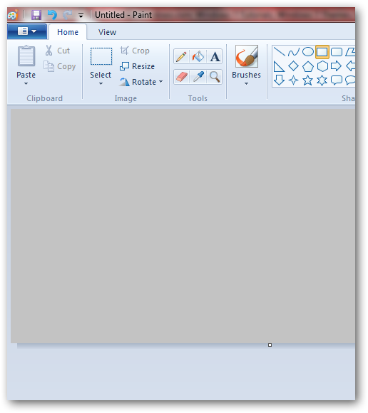 Creating pressed text effect in MS Paint in Windows 7