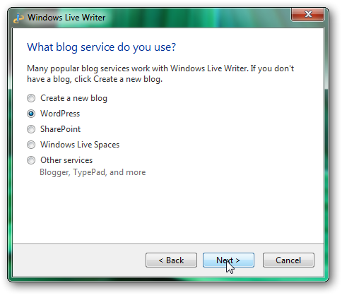 How to configure and use Windows Live Writer for blogging-1
