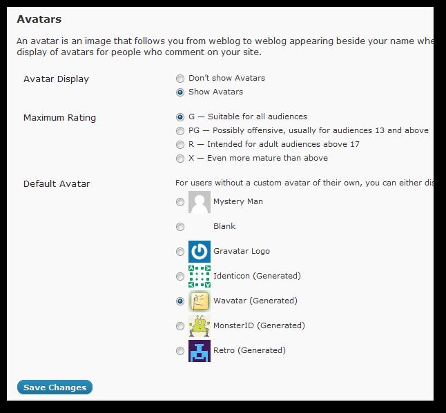 Management of Gravatars in WordPress-2