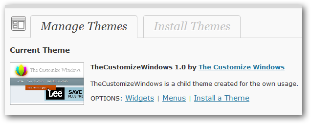 free child theme of your own in WordPress