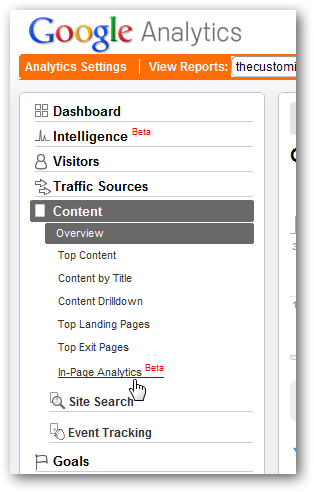 in-page analytics to increase pageviews