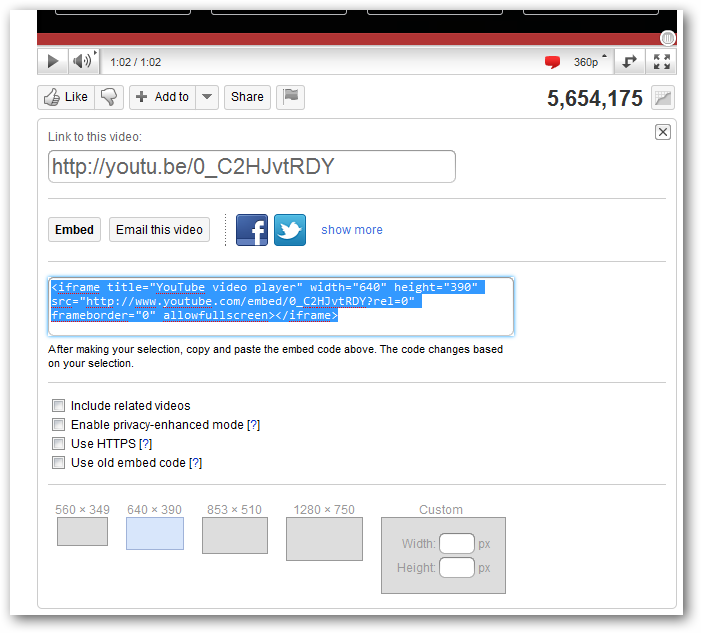 How to embed Youtube video in WordPress blog
