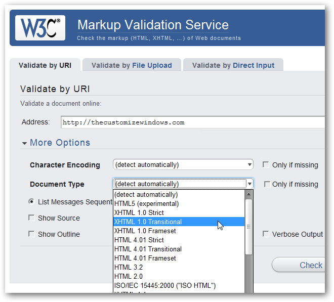 Making your WordPress website W3C validated