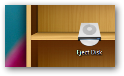Eject CD DVD desktop shortcut
