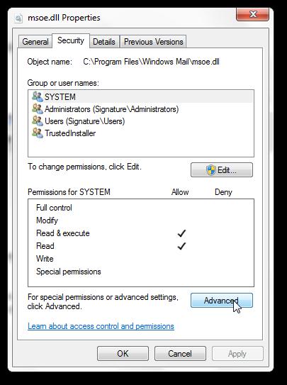 Get back Windows Mail in Windows 7 SP1-3