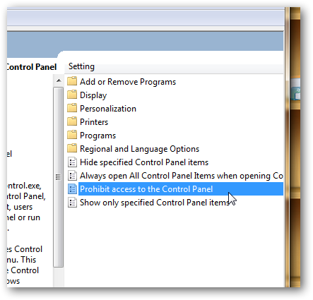 How to disable control panel in Windows 7-2