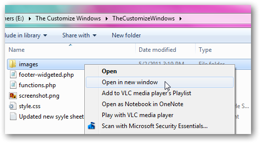 Open in New Window on right click context menu
