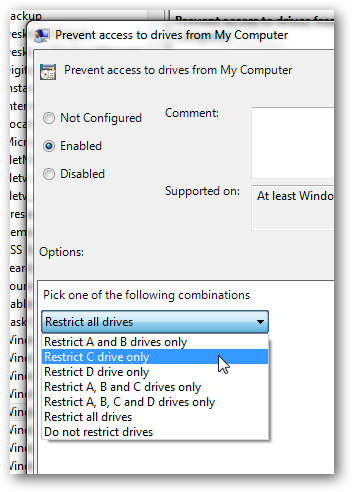 Restrict user access to a particular partition BOLD