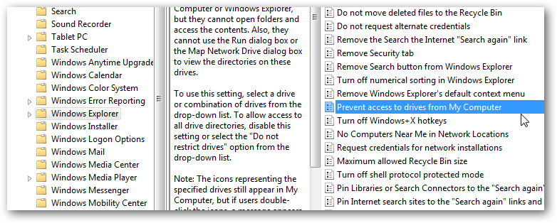 Restrict user access to a particular partition
