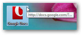 Shortcut to Google Docs on Windows 7 desktop