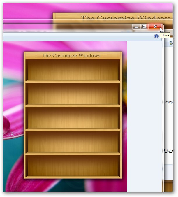 bookshelf like iPad to place icons in Windows 7 desktop-1
