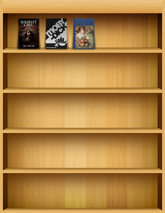 ipad like bookshelf layered psd file