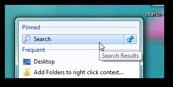 pin search to jumplist-bold