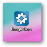 Desktop icon to Google docs