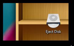 Eject CD DVD desktop shortcut