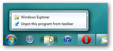 How to remove destinations from the list jump in Windows 7
