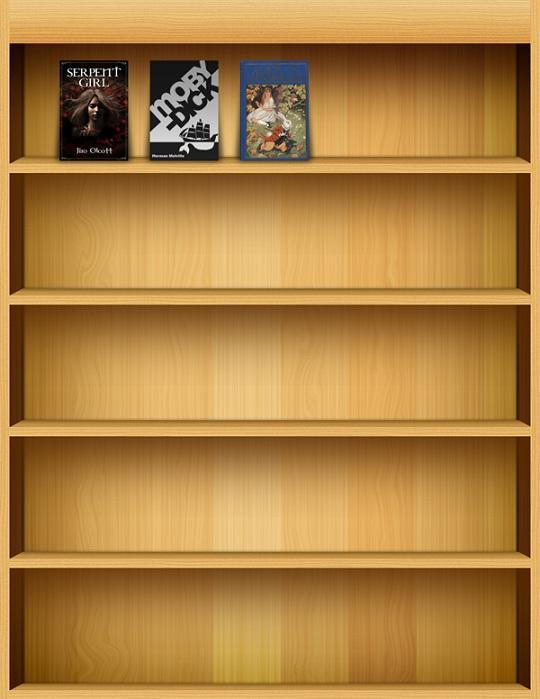 IPad Like Bookshelf Layered PSD File