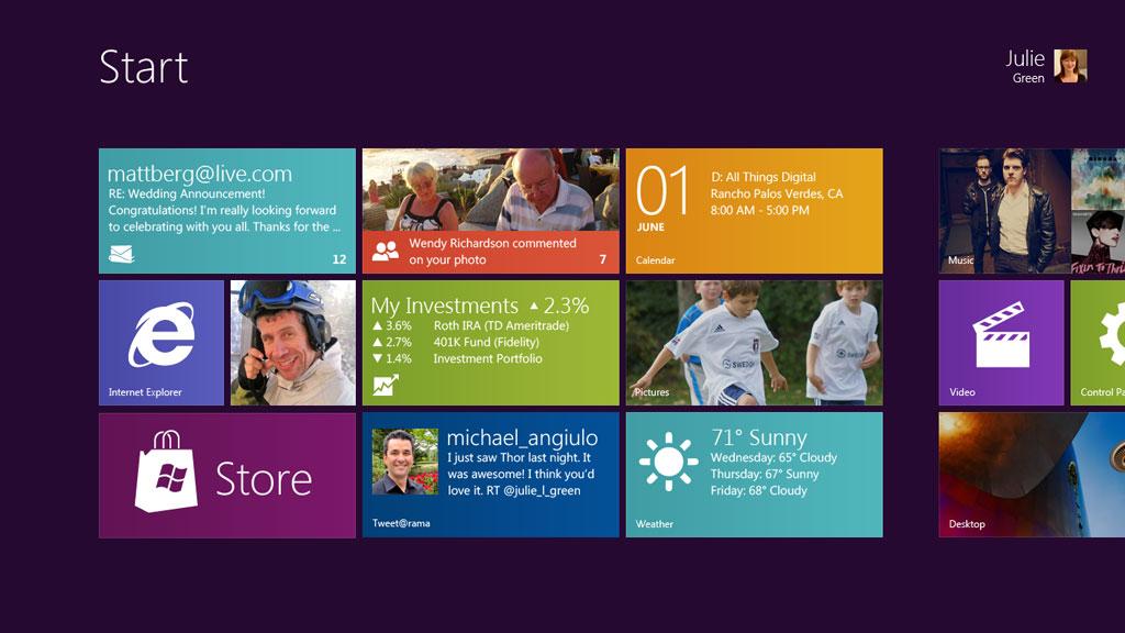 Windows 8 Official Screenshot