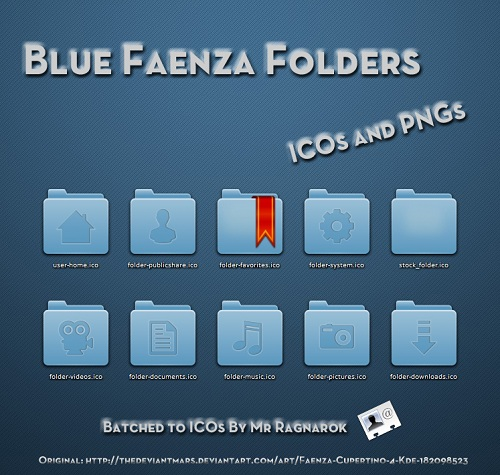Blue Faenza Folder icon set
