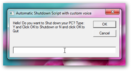Let your PC speak what you want while shutting down
