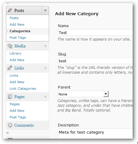 Search Engine Optimization of Categories in WordPress