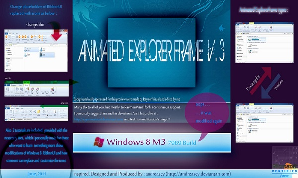 Windows 8 M3 Build 7989 Animated Explorerframe V.3