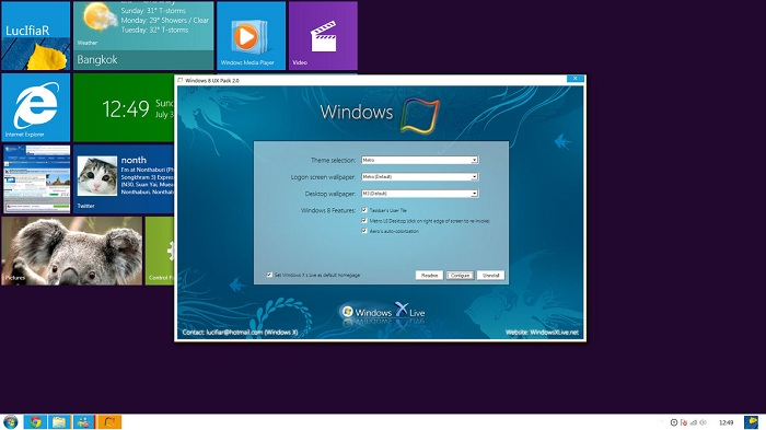 Windows 8 transformation pack tool