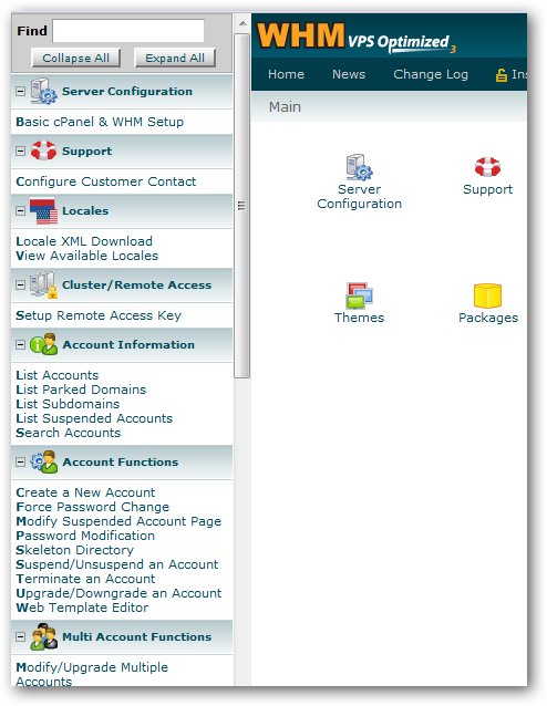 cPanel WHM Web Host Manager