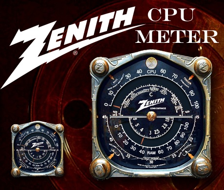 CPU Meter Gadget with Zenith Radio Dial
