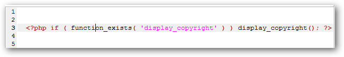 Change Copyright Notice in WordPress Footer in easy steps