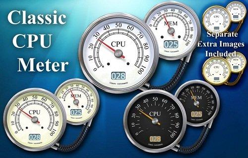 Classic CPU Meter Gadget for Windows 7 PC