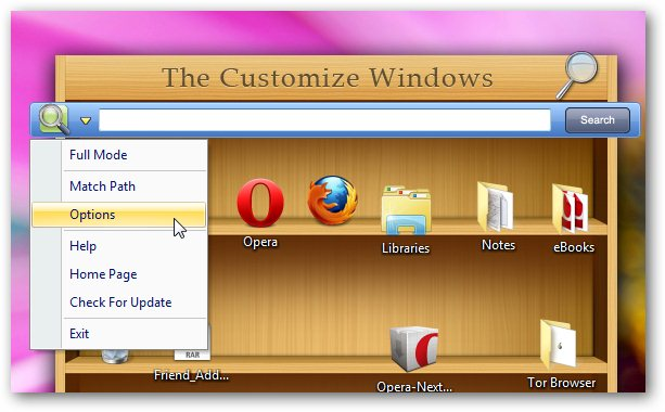 Quick Search for Windows 7