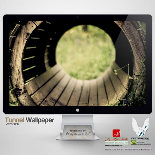 Wooden-Tunnel-Wallpaper-Set