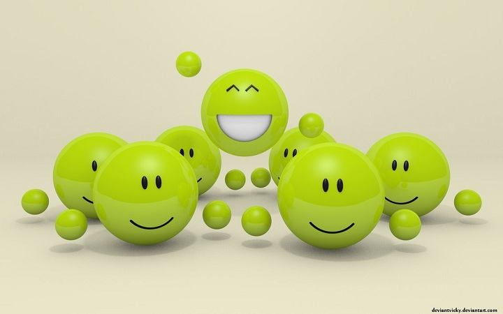 3D Woot Smiley Wallpaper