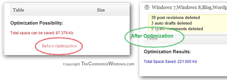 Optimize WordPress Blog from the database for smoother performance