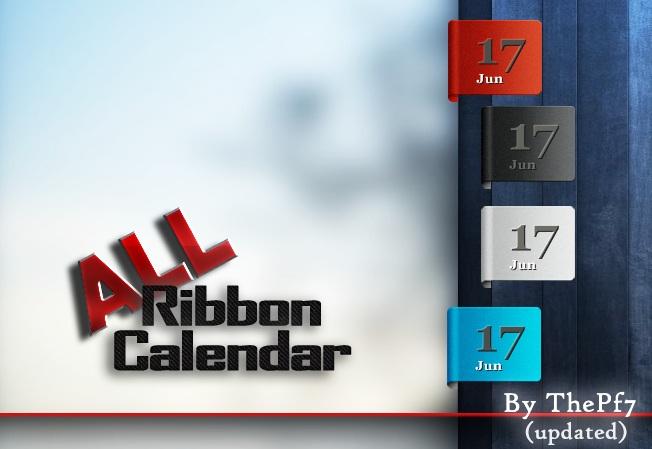 Ribbon Calender Rainmeter Skin