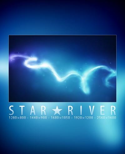 Star River Digitally Rendered Wallpaper