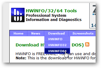 System Hardware Information and Monitoring Tool HWinfo