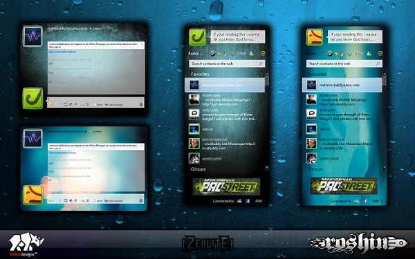 Windows Live Messenger 2011 Skin Zeolite