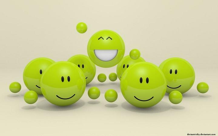 3D Woot Smiley Wallpaper