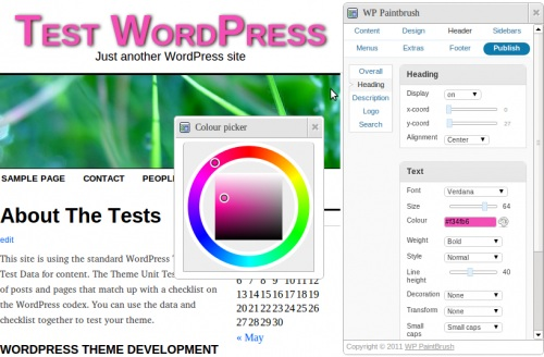 Design WordPress themes without knowing CSS with WP Paintbrush