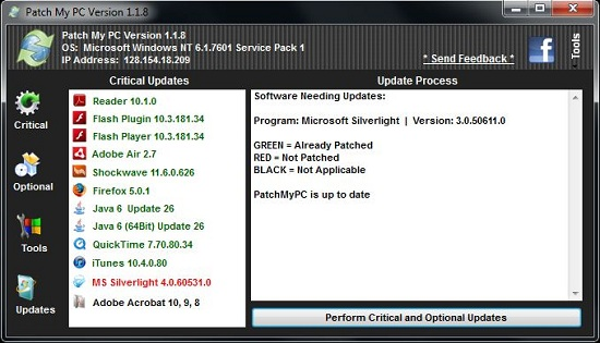 One Click Software Updater Patch My PC