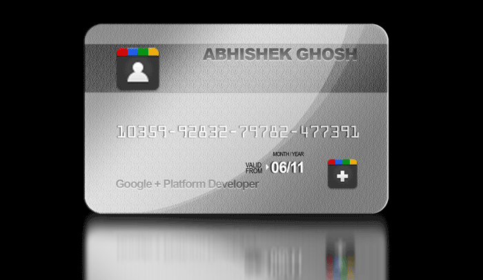 Google Plus-Card
