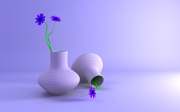Vase and Flowers Wallpaper