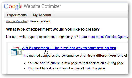 Website Optimizer - How to use Google's free tool in WordPress