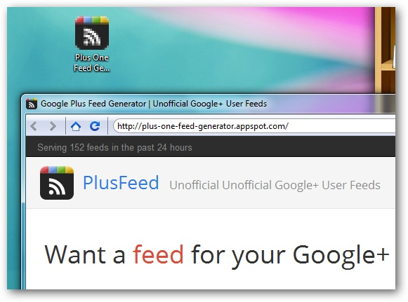 google plus feed