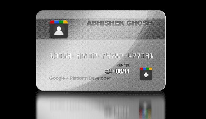 Google Plus-Card