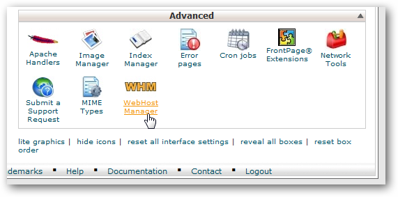Virtual Private Server (VPS) WHM setup
