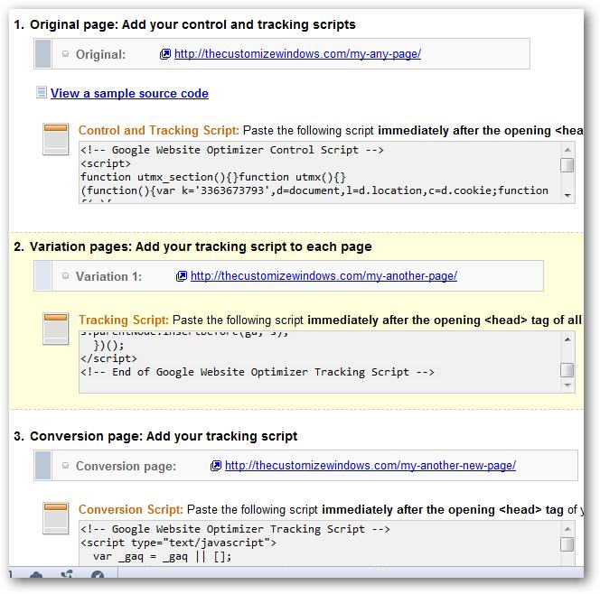 Website Optimizer